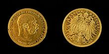1911 Hungarian 10 Korona Gold Coin
