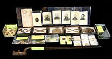 Civil War Photos Emblems, Bullets, Bayonet Lot