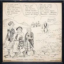James Robert Williams (1888-1957) Illustrated Comic Panel #2