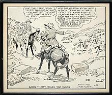 James Robert Williams (1888-1957) Illustrated Comic Panel #3