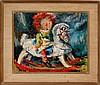 Ben Abril (1923-1995) Rocking Horse Painting
