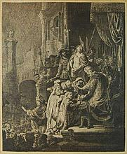 Rembrandt van Rijn (1606-1669) Christ Before Pilate Etching
