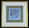 Framed Asian Silk Needlework