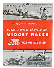 1960s National Championship Midget Races Poster