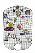 Antique Auto Badges, Emblems, Plate Topper Lot