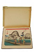 After Hiroshige 53 Stations, Tokaido Woodblock Set