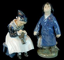 Royal Copenhagen Boy & Girl Figurine PAIR