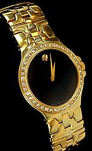 Movado Delphino Diamond Bezel Men's Wrist Watch