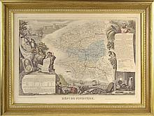 Framed Map Engraving, France, Region du Nord #28