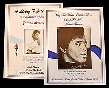 James Brown Official Funeral Program PAIR