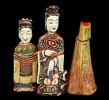 Chinese Carved Ivory & Horn Snuff Bottle Lot
