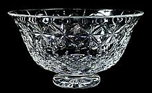 Large Waterford Crystal Bowl, Signed