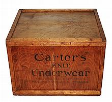 Antique Carter's Underwear Shipping Crate