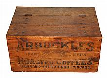 Antique Arbuckles Coffee Wood Shipping Crate