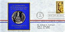 10 Sterling Silver Coins, Postmaster 1st Day Cover