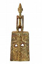 African Dogon Carved Wood Polychrome Mask #1