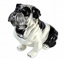 Vintage English Bulldog Chalkware Bank