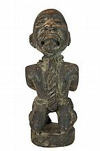 African Carved Wood Slave Sculpture from Zaire