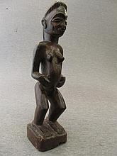 Chokwe Carved Wood Reliquary Figure of the Congo