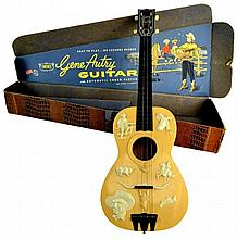 Gene Autry Guitar, Emenee Musical Toy w/ Box