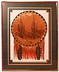 Signed Copper Dream Catcher Art