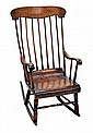 Antique Boston Rocking Chair, Circa 1850's.