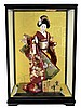Vintage Japanese Geisha Doll w/ Case
