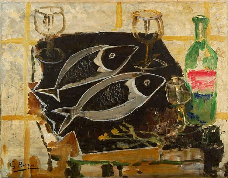 Georges Braque (1882-1963) Nature Morte au Poisson
