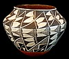 Large Antique Acoma Polychrome Pottery Vessel #2