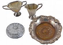 Sterling Silver C&S;, Wine Bottle Coaster & Jar