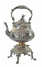 Antique Martin Hall Silver Plate Hot Water Kettle