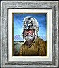 Painting on Canvas, Mountain Man, K.M. Freeman