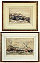 Pair of hand colored Lithographs