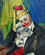 Emil Jean Kosa Jr. (1903-1968) Clown Self Portrait