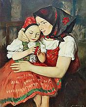 Zoltán Szemerey (1921-2009) Mother & Child