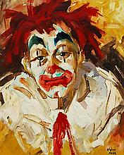 Stefano Falk (1912-1986) Clown Self Portrait