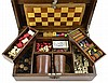 Antique Gaming Box: Ivory, Wood and Bone