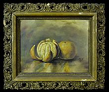 Still Life Painting, Oranges, Signed a.a.h. 1892