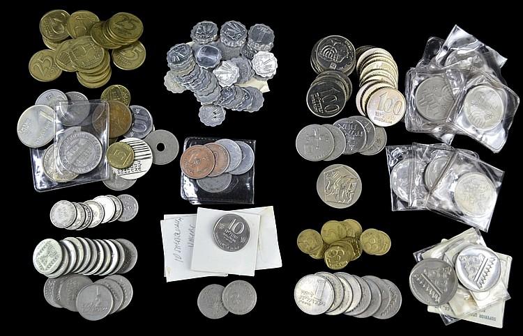 Coins: Lirah, Sheqalim, Centavos, Cents, Apaxmai