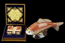 Royal Crown Derby Imari Napkin Rings & Koi Fish