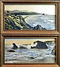 2 Hand Tinted Photos of the California Coast