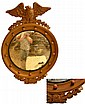 Bulls Eye Mirror with Eagle Top.