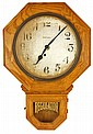 Ingram 12-Inch Ingot Oak Regulator Clock