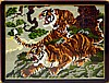 Framed Contemporary Needlework, Tigers