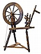 Antique Oak Spinning Wheel