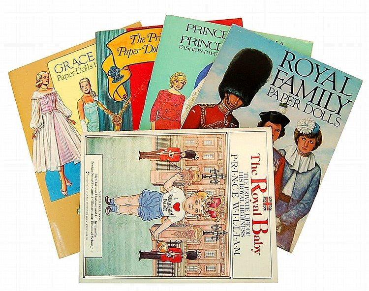 Royal Family Paper Doll Books