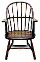 Antique Windsor Bowback Chair, Solid Oak