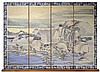 Michael Allen Hampshire (1933-2013) Asian 4 Panel Needlepoint Landscape