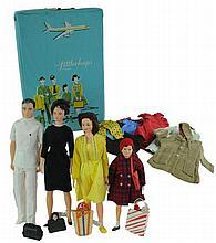 4 Pc. 1980 Remco The Littlechap Family Dolls