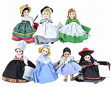 7 Pc. Madame Alexander Doll Lot
